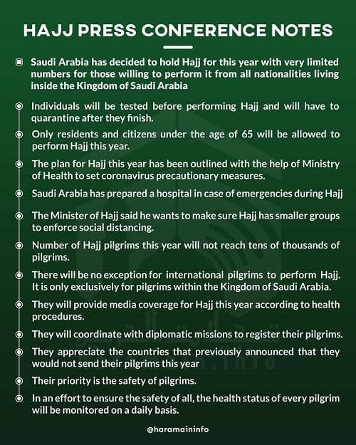 Catatan Konferensi Pers Haji Pemerintah Arab Saudi