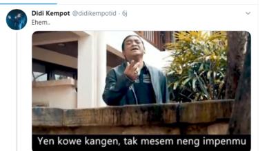 Cuitan Akun Twitter Didi Kempot