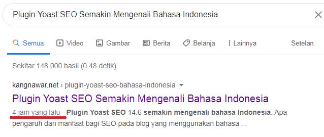 artikel cepat lambat terindeks oleh google
