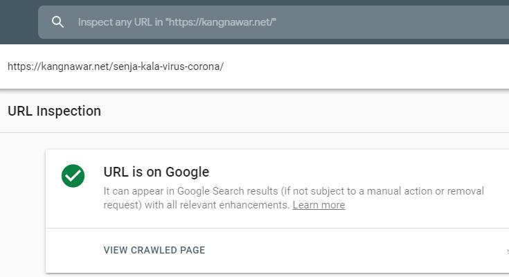 Cara Inspeksi URL Artikel