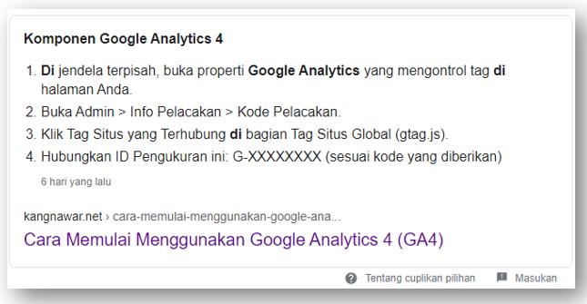 Konten Pilihan Google
